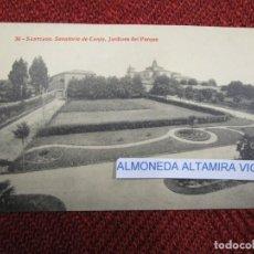 Postales: GALICIA 'SANATORIO CONJO CONXO JARDINES' SANTIAGO COMPOSTELA EDI THOMAS 9281 S/C DIVIDIDA + INFO 1S . Lote 171611529