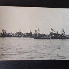 Postales: EL FERROL LA CORUÑA FIESTA MARITIMA POSTAL FOTOGRAFICA HACIA 1906. Lote 171640008