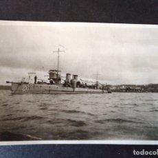 Postais: EL FERROL LA CORUÑA BARCO DE GUERRA POSTAL FOTOGRAFICA HACIA 1920. Lote 171640057