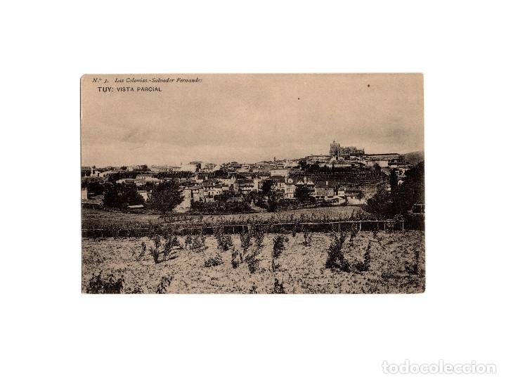 TUY.(PONTEVEDRA).- VISTA PARCIAL. (Postales - España - Galicia Antigua (hasta 1939))