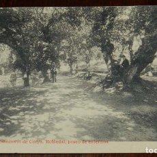 Postales: POSTAL DE SANTIAGO. N.18. SANATORIO DE CONJO. ROBLEDAL, PASEO DE LOS ENFERMOS. FOTOTIPIA THOMAS. SIN. Lote 173047315