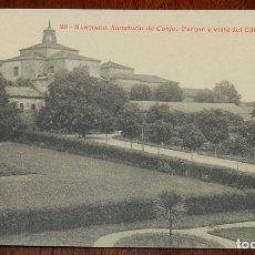 Postales: POSTAL DE SANTIAGO. N.20. SANATORIO DE CONJO. PARQUE Y VISTA DEL EDIFICIO ANTIGUO. FOTOTIPIA THOMAS.. Lote 173047389