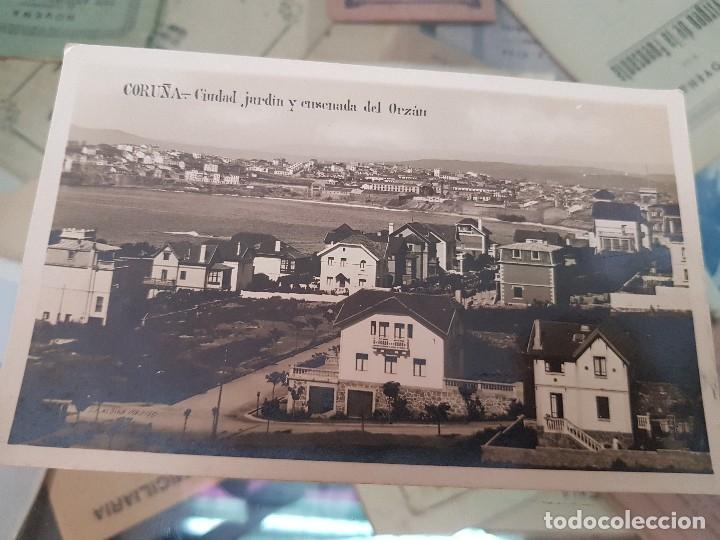 ANTIGUA POSTAL CIUDAD JARDIN Y ENSENADA DEL ORZAN CORUÑA MARGARA (Postales - España - Galicia Antigua (hasta 1939))