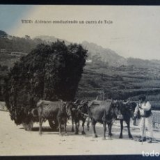 Postales: VIGO: ALDEANO CONDUCIENDO UN CARRO DE TOJO, POSTAL SIN CIRCULAR DE PRINCIPIOS DEL SIGLO XX. Lote 174017059