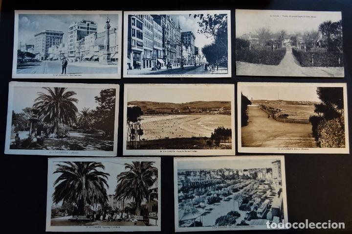 7 ANTIGUAS POSTALES DE LA CORUÑA SIN CIRCULAR (Postales - España - Galicia Antigua (hasta 1939))