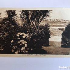 Postales: LA CORUÑA. POSTAL NO.17, JARDINES DE RIAZOR. EDITA: EXCL. LIBRERÍA LINO PÉREZ (H.1940?). Lote 174022899