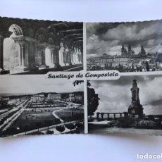 Postales: SANTIAGO DE COMPOSTELA. POSTAL FOTOGRÁFICA. RECUERDO DE LA CIUDAD. EDITA: ED. LUJO (H.1960?). Lote 174041235