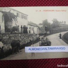 Postales: POSTAL PONTEVEDRA ' ESCENA GALLEGA ' Nº 17A 6314 DIVIDIDA, EDI THOMAS S/C + INFO 1S. Lote 174047770