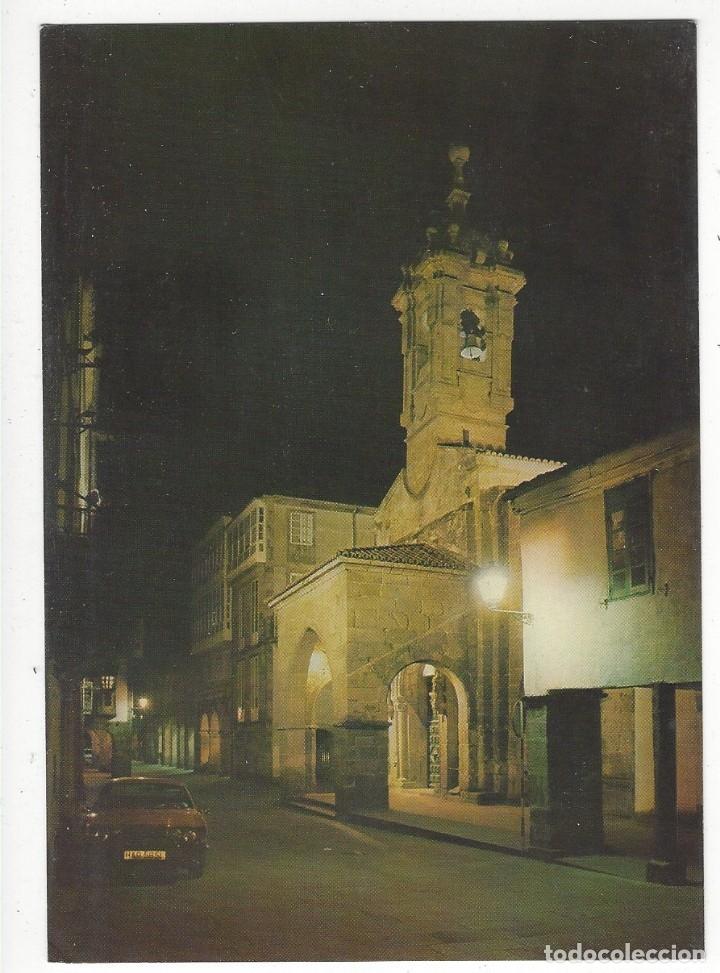 3640 - SANTIAGO DE COMPOSTELA.- IGLESIA DE SANTA MARIA SALOMÉ. NOCTURNA (Postales - España - Galicia Moderna (desde 1940))