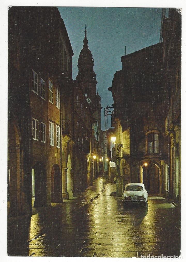 2019- SANTIAGO DE COMPOSTELA.- RUA DEL VILLAR. NOCTURNA. (Postales - España - Galicia Moderna (desde 1940))