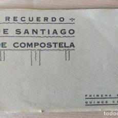 Postales: RECUERDO DE SANTIAGO DE COMPOSTELA. PRIMERA SERIE. 15 VISTAS, POSTALES. Lote 174544332