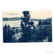 Cartes Postales: TUY.(PONTEVEDRA).- MÁRGENES ESPAÑOLA Y PORTUGUESA EN EL MIÑO.. Lote 174981183