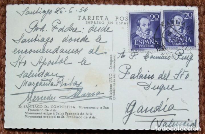 Postales: santiago de compostela - monumento a san francisco de asis - Foto 2 - 175493159