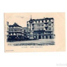 Postales: LA CORUÑA.- OBELISCO LINARES RIVAS.. Lote 175751938