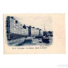Postales: LA CORUÑA.- MARINA MUELLE DE MONTOTO.. Lote 175752094