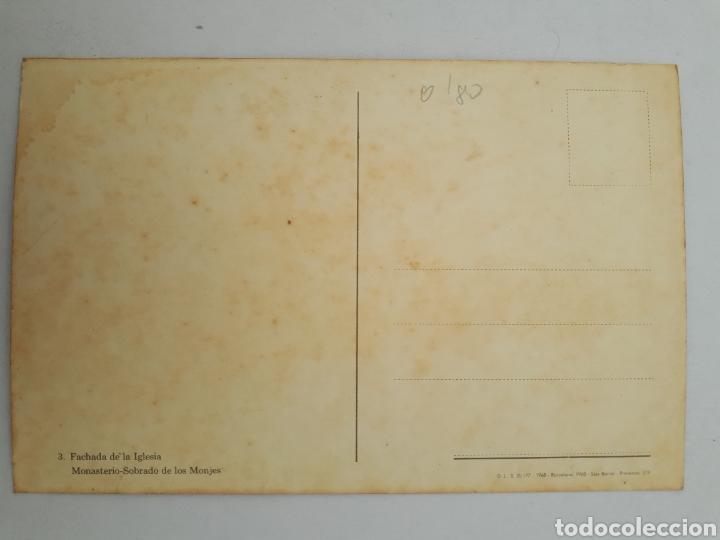 Postales: 3 - Fachada de la Iglesia Monasterio - Sobrado de los Monjes. - Foto 2 - 175834573