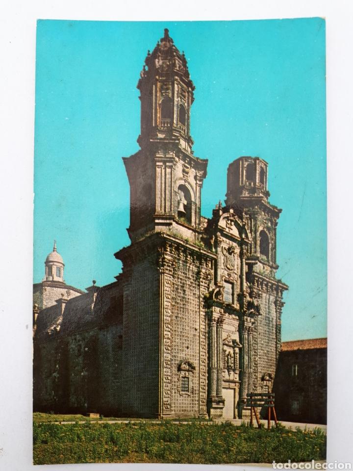 3 - FACHADA DE LA IGLESIA MONASTERIO - SOBRADO DE LOS MONJES. (Postales - España - Galicia Moderna (desde 1940))