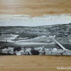 Postales: PUENTEDEUME LA CORUÑA POSTAL PANORAMICA CON SU NEGATIVO ORIGINAL EDICIONES ARRIBAS Nº 909. Lote 176002902