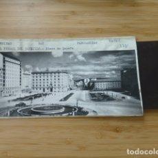 Postales: EL FERROL CORUÑA PLAZA ESPAÑA POSTAL PANORAMICA CON SU NEGATIVO ORIGINAL EDICIONES ARRIBAS Nº 902. Lote 176003564