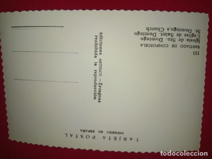 Postales: POSTAL.SANTIAGO DE COMPOSTELA.IGLESIA DE STO.DOMINGO.NUEVA. - Foto 2 - 176441808