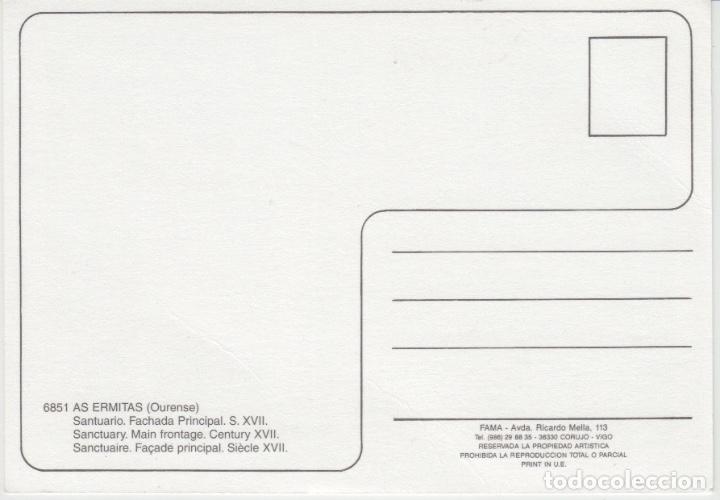 Postales: POSTAL AS ERMITAS SANTUARIO (OURENSE). FAMA. VIGO - Foto 2 - 176574424