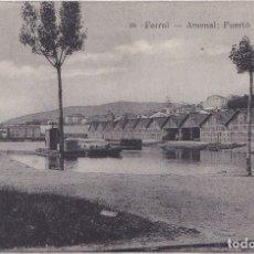 Postales: EL FERROL (LA CORUÑA) - ARSENAL - PUERTO CHICO. Lote 177081687