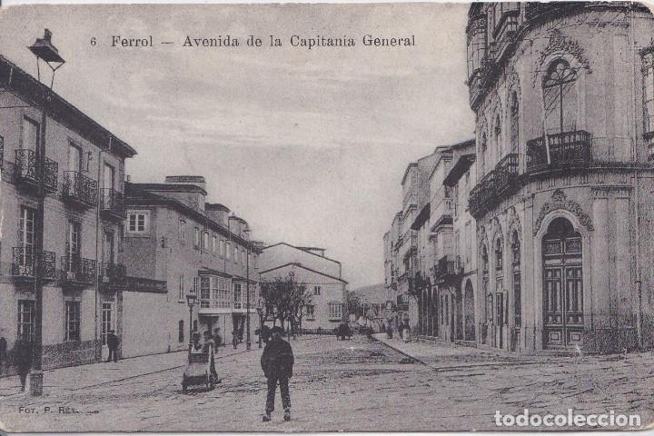 EL FERROL (LA CORUÑA) - AVENIDA DE LA CAPITANIA GENERAL (Postales - España - Galicia Antigua (hasta 1939))