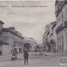Postales: EL FERROL (LA CORUÑA) - AVENIDA DE LA CAPITANIA GENERAL. Lote 177081688