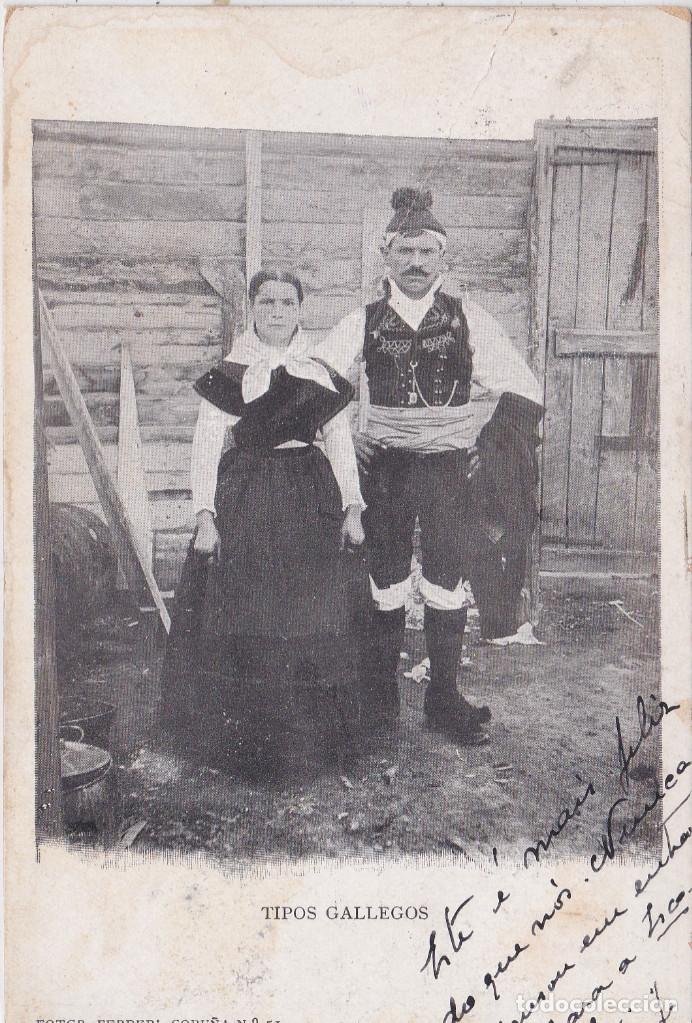 GALICIA - TIPOS GALLEGOS - FOT. FERRER - LA CORUÑA (Postales - España - Galicia Antigua (hasta 1939))