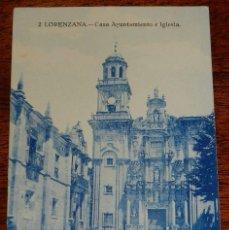 Postales: POSTAL DE LORENZANA, N.2, CASA AYUNTAMIENTO E IGLESIA, NO CIRCULADA, ESCRITA.. Lote 177260814