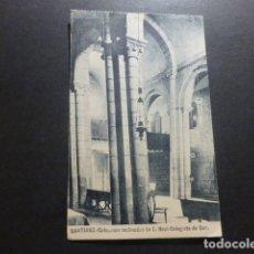 Postales: SANTIAGO DE COMPOSTELA COLUMNAS INCLINADAS DE LA COLEGIATA DEL SAR. Lote 177806895