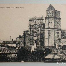 Postales: ANTIGUA POSTAL DE PONTEVEDRA. SANTA MARÍA. ESTANCO DE LA OLIVA. Lote 178310536