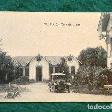 Postales: BONITA POSTAL - GUITIRIZ - CASA DE BAÑOS - BALNEARIO - LUGO - GRAFOS - MADRID - COLECCIONISTAS. Lote 178687458