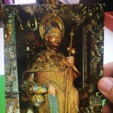 Postales: POSTAL SANTIAGO DE COMPOSTELA CATEDRAL IMAGEN DEL APOSTOL 1973 ESCRITA Y SELLADA. Lote 178767107