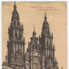 Postales: POSTAL SANTIAGO CATEDRAL FACHADA DEL OBRADOIRO . Lote 178948946