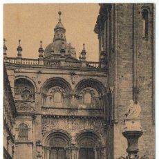 Postales: POSTAL SANTIAGO CATEDRAL FACHADA DE LAS PLATERÍAS . Lote 178949845