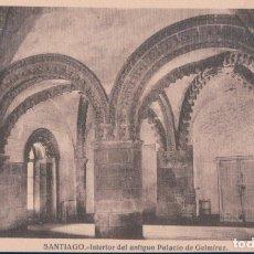 Postales: POSTAL SANTIAGO - INTERIOR DEL ANTIGUO PALACIO DE GELMIREZ - HELIOTIPIA. Lote 178968390
