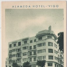 Postales: VIGO (PONTEVEDRA) - HOTEL ALAMEDA - RESTAURANTE Y BAR AMERICANO. Lote 179040173