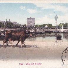 Postales: VIGO (PONTEVEDRA) - VISTA DEL MUELLE. Lote 179042983