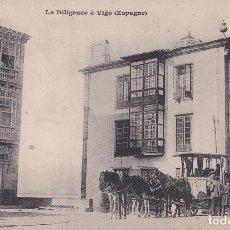 Postales: VIGO (PONTEVEDRA) - LA DILIGENCIA DE VIGO. Lote 179043042