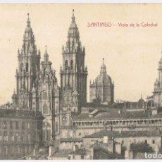Postales: POSTAL SANTIAGO VISTA DE LA CATEDRAL . Lote 179169295
