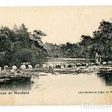 Postales: PONTEVEDRA AGUAS DE MONDARIZ ALREDEDORES LAGO DE PIAS. ED. MADRID POSTAL. SIN CIRCULAR. Lote 179331936