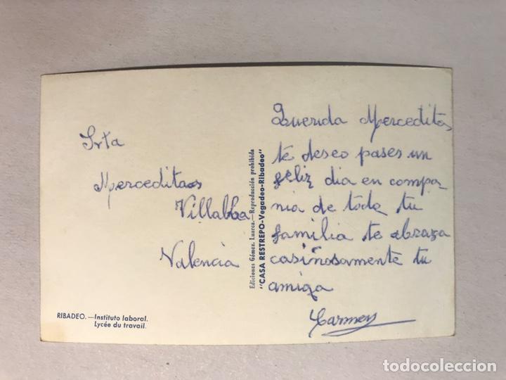 Postales: RIBADEO (Lugo) Postal Instituto Laboral. Edita: Ed. Gomez, Luarca. Casa Restrepo, Vegadeo - Ribadeo - Foto 2 - 180238295
