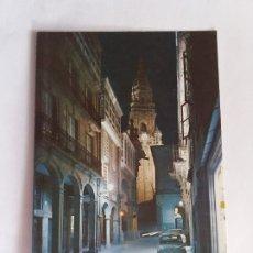 Postales: TARJETA POSTA - SANTIAGO DE COMPOSTELA - RUA DEL VILLAR NOCTURNA 2070. Lote 180923875