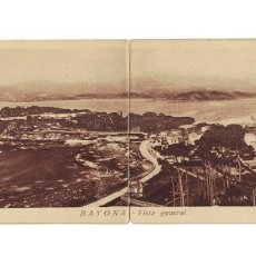 Postales: BAYONA - VISTA GENERAL - POSTAL DOBLE / PANORÁMICA. VIGO. PONTEVEDRA (28 X 8,7 CM). Lote 181094160