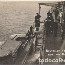 Postales: VIGO (PONTEVEDRA) - LLEGADA A UN BARCO DEL CONSUL DE ALEMANIA. Lote 181224603