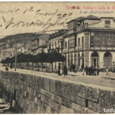 Postales: BAYONA – CALLE DE ELDUAYEN – EDIT. EL UNIVERSO (CIRCULADA EN 1909) VIGO PONTEVEDRA GALICIA. Lote 181823172