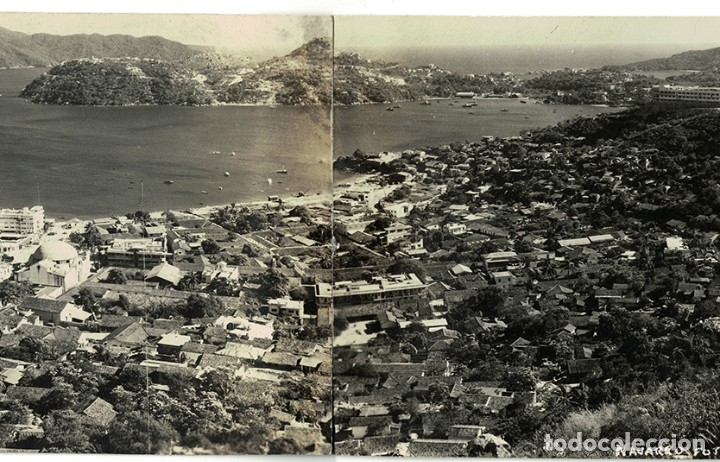 Postales: Vigo - Triple Postal fotográfica - panorámica 41 cm x 8,3 cm (Pontevedra, Galicia) Navarro Fot. - Foto 4 - 181964230