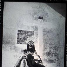 Postales: ANTIGUO CLICHÉ DE NUESTRA SEÑORA DE LAS ANGUSTIAS HERBON PADRON A CORUÑA NEGATIVO EN CRISTAL . Lote 182130807