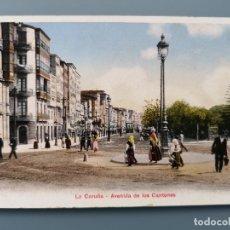 Postais: POSTAL LA CORUÑA Nº 47445 AVENIDA DE LOS CANTONES EDIC P.Z. GALICIA REV SIN DIVIDIR PERFECTA CONSERV. Lote 182464521